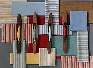Design: Läi Sii collection of stripes in Linen & Cotton silk mixes
