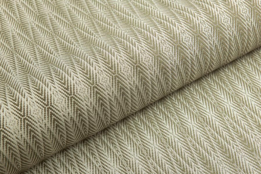 Heritage Silk - Palm 1 - Olive Green on Ivory