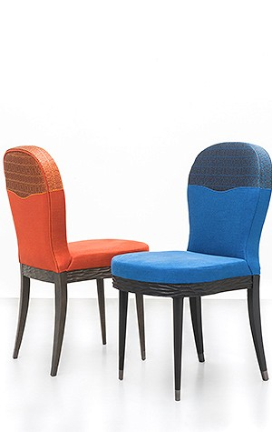 Chairs from Marc de Berny's Munira collection designed by Francis Sultana
