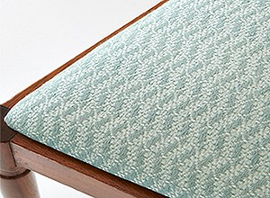 Detail: Chair covered with Heritage design Ginger 2, Wasabi
